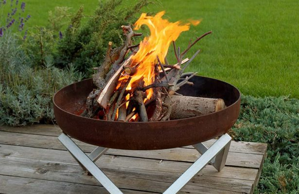 Can you put a fire pit on decking?